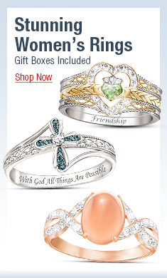 Stunning Women's Rings - Gift Boxes Included - Shop Now