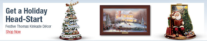 Get a Holiday Head-Start - Festive Thomas Kinkade Decor - Shop Now