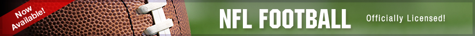 Now Available! NFL FOOTBALL - Officially Licensed!