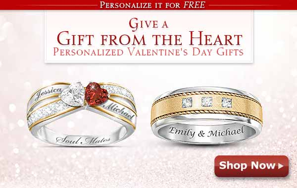 Personalize It for FREE - Give a Gift from the Heart - Personalized Valentine's Day Gifts - Shop Now