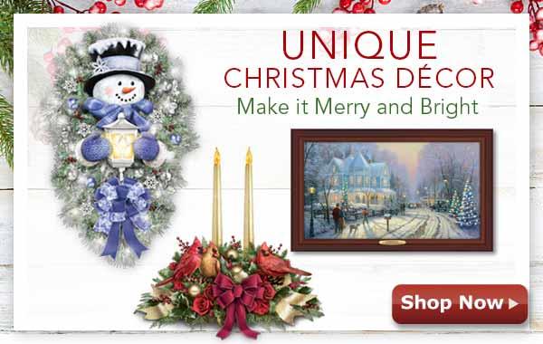 Unique Christmas Decor - Make it Merry and Bright - Shop Now