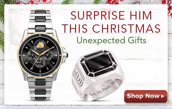 Surprise Him This Christmas - Unexpected Gifts - Shop Now
